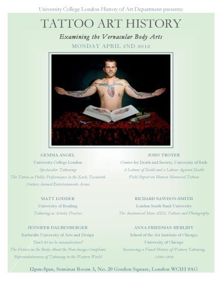 UCL History of Art Departmental seminar, Monday April 2nd